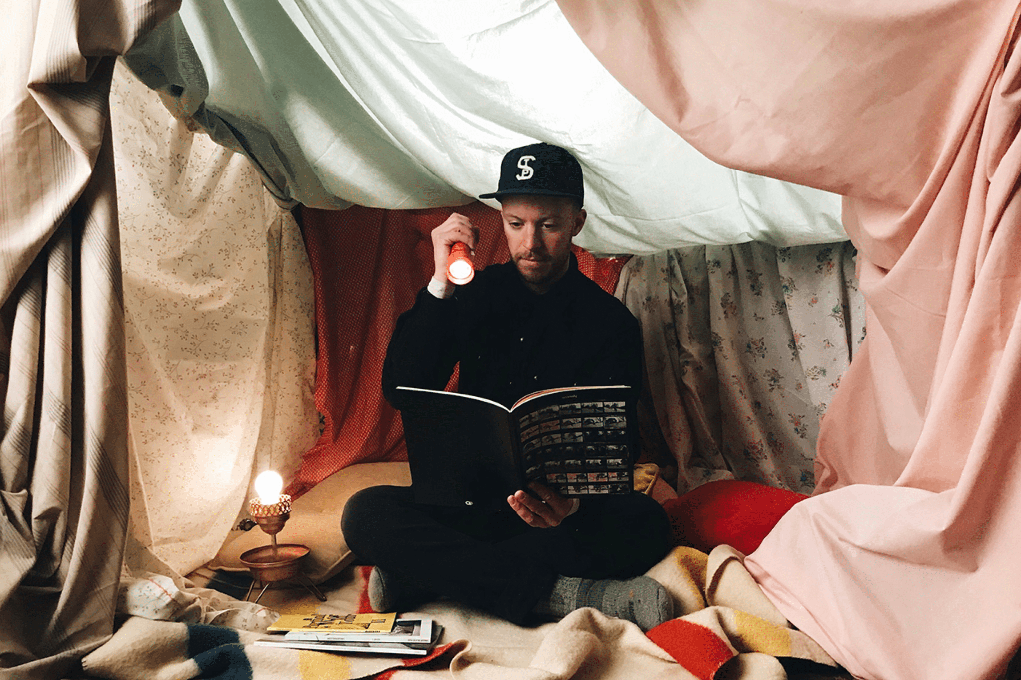 "Self Portrait ""Blanket Fort"" by Kevin Horn"