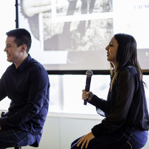 Amy talks to Creative Director of Smartpress at Behind the Print event