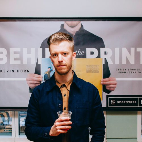Kevin Horn Strikes a Pose at Behind the Print at WeWork Minneapolis